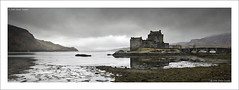 Dark Donan (SwaloPhoto) Tags: bridge panorama castles zeiss scotland highlands availablelight scottish icon eileandonan lochs ze lochalsh highlandsislands dornie worldfamous bleakhouse lochduich picturestyle leefilters distagont235 canoneos5dmkii distagon352ze