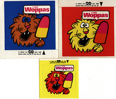 1970s Walls Ice Cream I Like Woppas Lion Stickers - New Zealand (NZCollector) Tags: new streets ice cards stickers cream paddle zealand trading packaging walls bubblegum collectables trade collectibles popsicle tiptop kiwiana