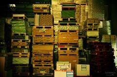 (luprmelo) Tags: verde luz linhas vermelho sp papel grfica madeira escuro guarulhos marrom geometria caixas quadrados estoque galpo empilhado retngulos