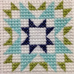 Quilty Stitches Block 3 2014 (colourmehappy88) Tags: crossstitch stitching quiltblock quiltystitches