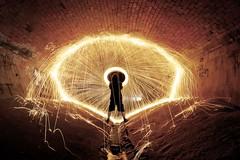 De-satch (JAZ-art) Tags: light red urban storm wool water fire steel spin under melbourne ground drain explore burn junkie misfits urbex beick