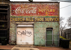 Five Cents, Shoe Service (Mobilus In Mobili) Tags: usa virginia interesting mural flickr coke richmond explore va cocacola rva motivational churchhill mobili mobilus mobilusinmobili
