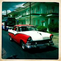 Car. (azurblue) Tags: voyage car vintage square cuba ile voiture iphone carre hipstamatic
