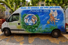 Ecologie (Alain Cachat) Tags: france ecology nikon market bio crest organic van nikkor march 1635 cologie d610 drme rhnealpes camionnette