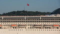 Passing the Bosphorus (Radu Zaciu - 1 Million Views. Thank You!) Tags: turkey crossing flag istanbul cruiseship strait bosphorus straitofistanbul