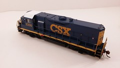 CSX - MATE (Road Slug) #2230 Dark Future Paint Scheme - Former GP35 (Conductors Rear 3-4 Overhead) - HO Scale - KATO kit-bash - July 29, 2015 - K. Crawley (dcmkris) Tags: atlas csx hoscale gp402 custompainted darkfuture roadslug mothermate