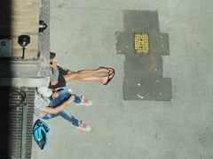 fags, legs and safety cams (P'ptje) Tags: life street people colour london leg fag