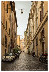 Roman side street (papaija2008) Tags: road street italy rome canon eos italian europe quiet roman side nobody 1755mm 60d