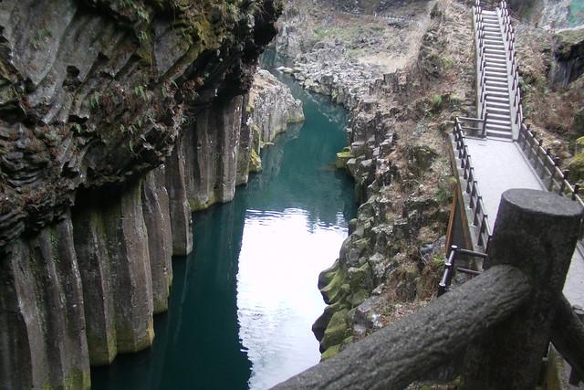 高千穂峡と真名井の滝 高千穂峡