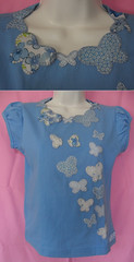 Guirlanda de Borboletas (Atelier da Piccollina) Tags: borboleta patchwork camiseta