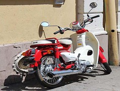 Vespa (alternate_world) Tags: red vespa neworleans frenchquarter