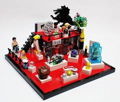 Legion of Doom: Trophy Room (Julius No) Tags: lego room doom trophy legion