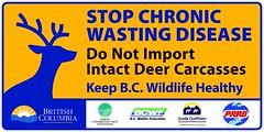 Chronic Wasting Disease signage