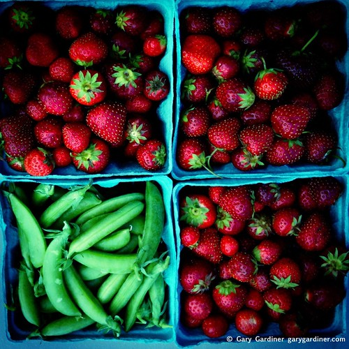 Strawberries and sugar snap peas