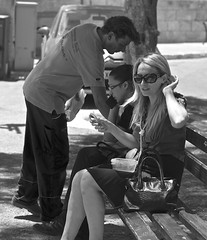 Girl on a Bench (manchesterblue59) Tags: girl bench lunch nikon break shade valletta d600