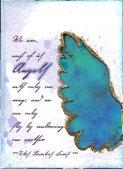 Things with Wings - Angel (flowerlily1) Tags: atc angel wings quote swap