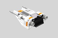 Incom T-47 Snowspeeder (3) (LegoNoitAllMocs) Tags: starwars model lego moc snowspeeder incom t47 airspeeder