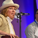 Cerys Matthews making music on stage