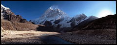 makalu & barun glacier valley (doug k of sky) Tags: nepal panorama trek landscape doug panoramic glacier valley himalaya basecamp makalu barun mountainscapes kofsky