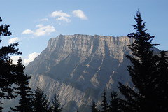 Good Morning, Mt. Rundle (Catcher & Co.) Tags: camping vacation holiday canada hiking alberta banff mountrundle banffnationalpark mtrundle tunnelmountain tunnelmountaincampground