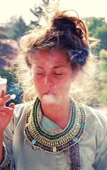 the drunken buddha () Tags: autumn girl backlight drunk hair day smoke egyptian contrejour