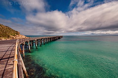 Ocean: A body of water occupying about two-thirds of a world made for man - who has no gills. (PhotoArt Images) Tags: ocean clouds pier jetty australia yorkepeninsula stenhousebay nikon1424f28 photoartimages