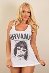 Playboy Model Lucy Zara Models Our Nirvana T-Shirts! (T Shirt Subway) Tags: nirvana bandtshirts lucyzara musictshirts buytshirtsonline nirvanatshirts tshirtsubway