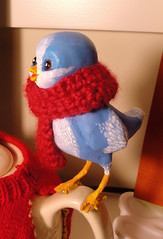 winter twitter bird detail (mary's merryland) Tags: bird crafts decoration teapot knitted paperclay wintertwitter
