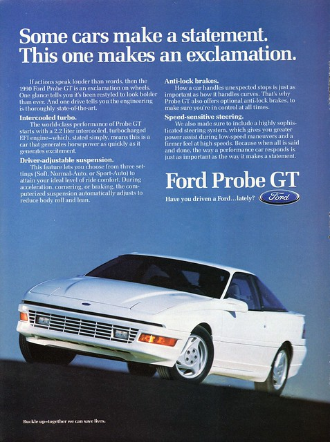ford probe ad gt 1990