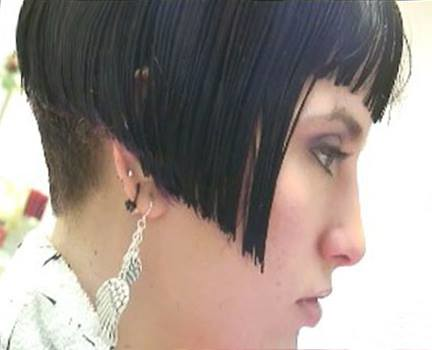 how to cut womens problem nape