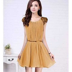 ชุดราตรี ออกงานผ้าชีฟองแต่งลูกไม้สวยหรู ฟรีไซส์ สีเบจ นำเข้า - พร้อมส่งTJ7159 ราคา1070บาท  รหัสสินค้า : TJ7159  ไซส์ : อก 32-38 เอวได้ถึง 40 ยาว 34 นิ้ว  วัสดุ : Chiffon Blended Korea Style  สี : เบจ/  /เหลือง   โทรสั่งของกับ พี่โน๊ต/พี่เจี๊ยบ : 083-17972
