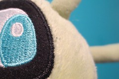 Celebi's eye (inthepotter'shands) Tags: macro eye toy plush pokemon celebi toysgames macromondays