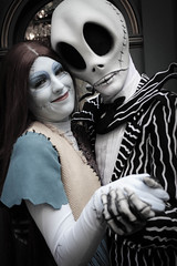 Jack Skellington and Sally (Visions Fantastic) Tags: disneyland disney sally jackskellington jackandsally thenightmarebeforechristmas facecharacter