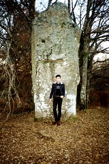 At The Menhir Of Ceinturat With Me (Ludovic Macioszczyk Photography) Tags: at the menhir with me pentax zoom 70r 135 kodak gold 200 iso limoges ludovic macioszczyk analog photography film pellicule photo photographie argentique keep alive ludos photographs france life shoot art picture world photographe m 2013 cieux monts blond ceinturat 87 weekend lomography sunday 35mm light camera winter boy exposure outside négatif développement scan self portrait auto 1 2 3 4 5 6 7 8 9 vintage appareil polychrome lumière vie © tag