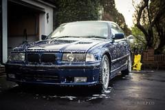 First Wash (NeilllP) Tags: blue car race toy track bmw blau kor avus e36 racekor