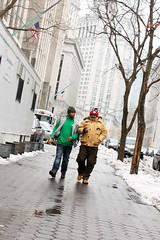 our streets ii (xi-xu) Tags: street city winter friends snow newyork cold locals manhattan newyorkers