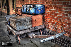 Waiting at the Station (Mandy Jervis Photography - Beady's World) Tags: uk travel holiday station wales train trolley north railway case trunk llangollen suitcases