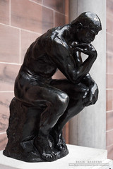 The Thinker (DMeadows) Tags: park sculpture art history museum scotland sitting display glasgow thinker historic collection ponder rodin collector pondering hmmmm pollok the burrell davidmeadows dmeadows davidameadows dameadows