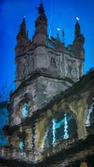 Bath Abbey (Matt Bigwood) Tags: distortion reflection tower abbey lumix 50mm bath pentax roman spire baths f17 gh2