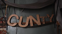 (Sam Tait) Tags: england urban signs building abandoned word for funny cunt exploring south sheffield yorkshire rude derelict urbex 2014 woolen woolens cunty