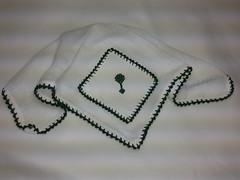 Fralda de Boca - Chocalho F015 (SaluArts) Tags: de pano cruz infantil bebê boca ponto paninho fralda fraldinha enxoval