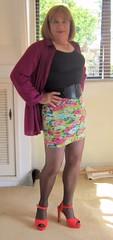 Short Skirt (Trixy Deans) Tags: hot cute sexy legs tgirl transvestite crossdresser slips shortskirt