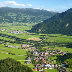 A delightful little village of Wiesing situated in the Unterinntaler (Bn) Tags: vacation panorama mountain holiday mountains green church forest wonderful river walking resta
