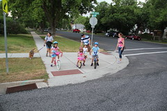 Kids ready to cross the street 1 (Aggiewelshes) Tags: dog dogs bike lucy july lisa victor vivian july4th olsen cailin jovie 2015 jalila balancebike