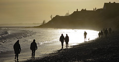 Walking at the golden hour (Halfbike) Tags: alnmouth beachwalking seaside lumixgh4