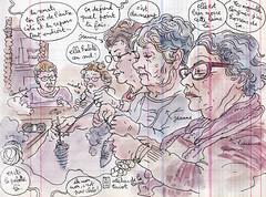 atelier de la laine (lapin barcelona) Tags: sketchbook illustration croquis bzh urbansketchers