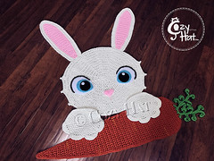Bella the Bunny Rug Crochet Pattern by Cozy Hat #bunny #rabbit #bunnies #crochetpattern #crochet #pattern #easterbunny #easter (Anastasia wiley) Tags: bunny rug crochet pattern cozyhat cozy hat anastasia wiley kids room decor nursery baby shower gift rabbit