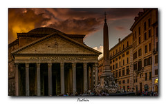 Panthéon (jldum) Tags: panthéon rome roma italie italia ville town hdr nightshot night nuit sunset