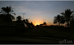 sunset (miss.abr) Tags: sunset road dark driving sky photo photography canon d550 d600 تصويري تصوير كانون