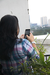 Taking sunset picture (vitaraman) Tags: wife klink tower sundet picture right wrist watches